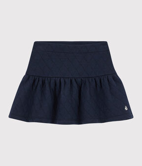 Falda de tejido tubular acolchado de niña azul Smoking