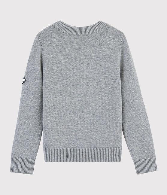 Jersey de lana y algodón para niña gris Subway