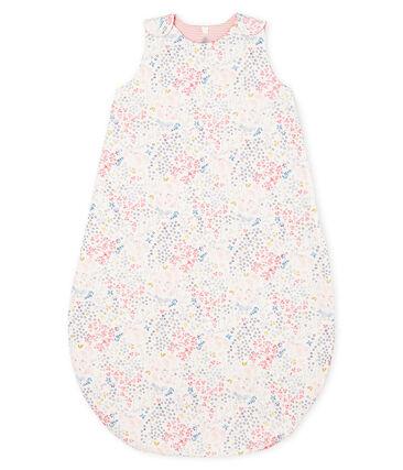 Saco reversible para bebé niña de punto blanco Marshmallow / blanco Multico