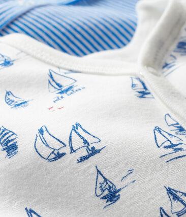 Par de pijamas de punto de bebé niño lote .