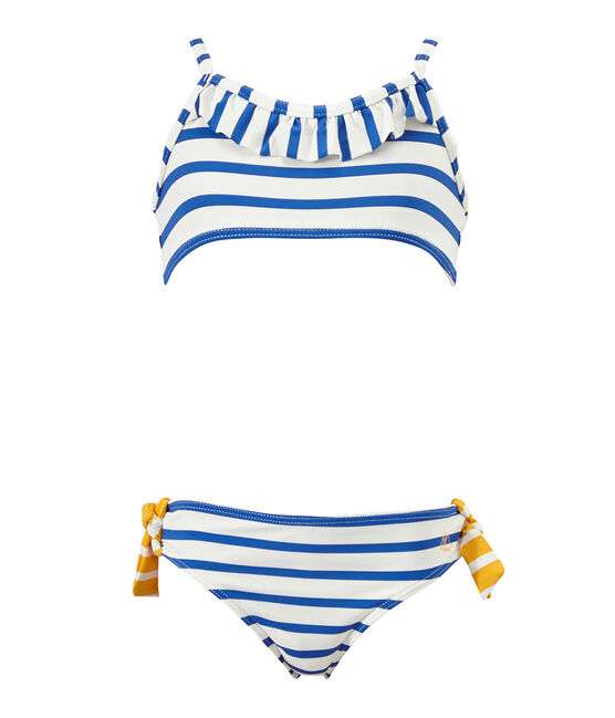 Bikini blanco Marshmallow / azul Perse