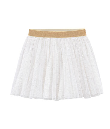 Falda de tul para niña blanco Marshmallow / amarillo Or