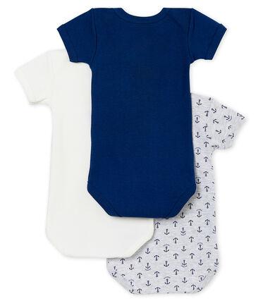 Trio de bodis de manga corta para bebé niño