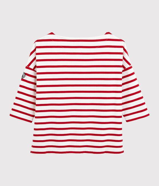 Marinera con volantes para mujer blanco Marshmallow / rojo Terkuit