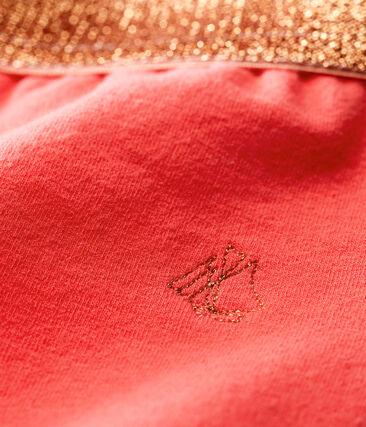 Pantalón de muletón ligero liso para bebé niña