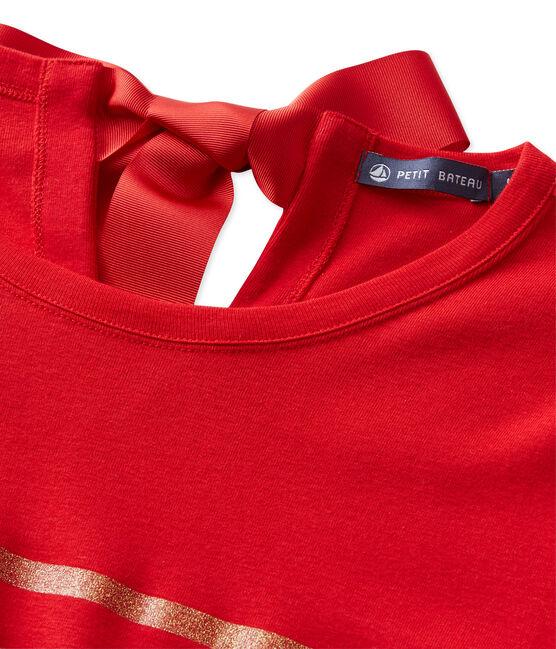 T-shirt femme à rayures paillettes rojo Froufrou