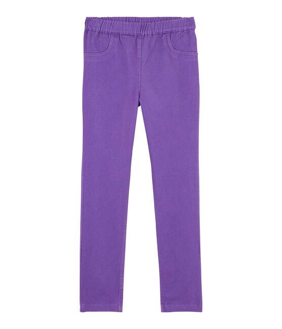 Vaqueros slim elásticos de niña violeta Real