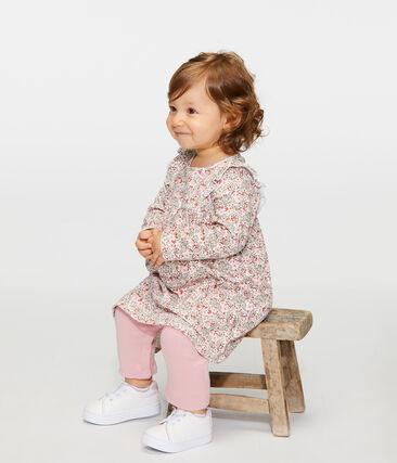 Vestido tipo leggings estampados para bebé niña blanco Marshmallow / blanco Multico