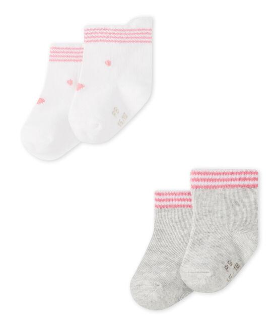 Lote de 2 pares de calcetines bebé mixtos lote .