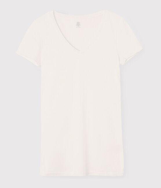 Camiseta de punto ligero para mujer blanco Marshmallow
