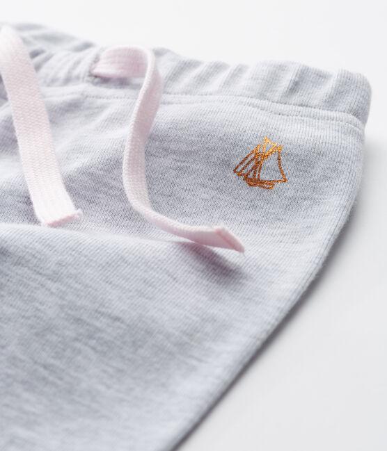 Pantalón de punto para bebé niña gris Poussiere Chine
