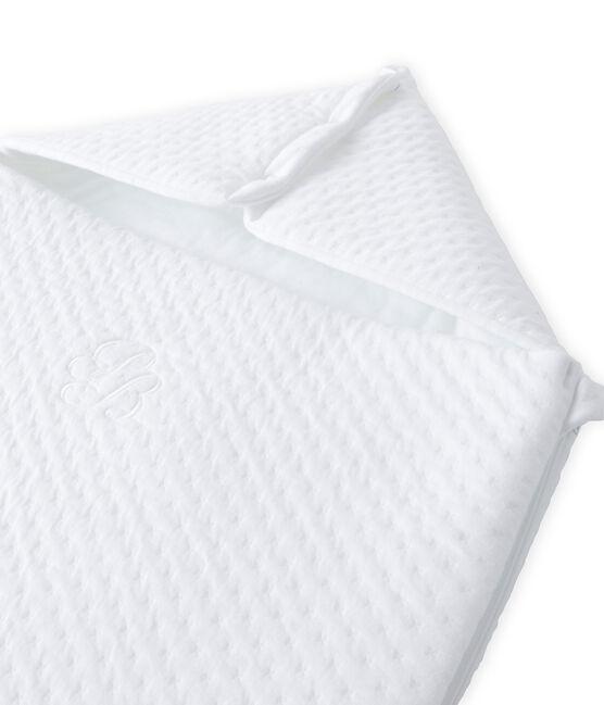 Saquito de dormir de túbico acolchado para bebé blanco Ecume
