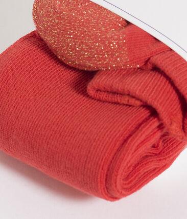 Pantis infantiles para niña rojo Signal