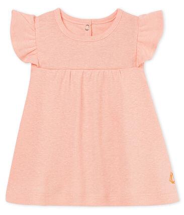 Blusa manga corta de algodón/lino para bebé niña rosa Rosako