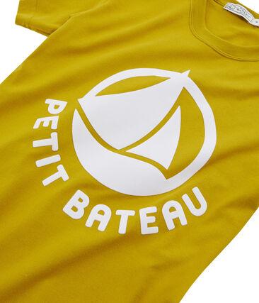 Camiseta mujer con logo amarillo Bamboo