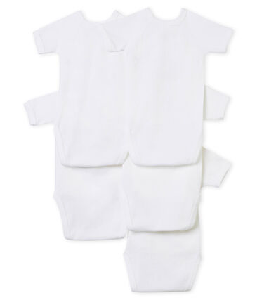 Lote de 5 bodis de nacimiento manga corta para bebé unisex