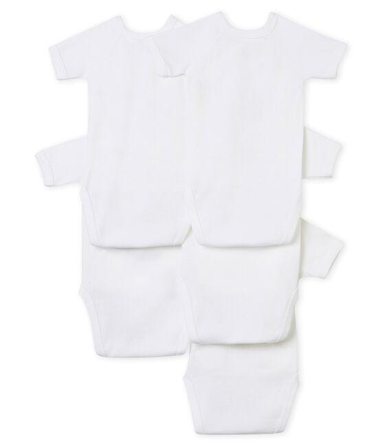 Lote de 5 bodis de nacimiento manga corta para bebé unisex lote .