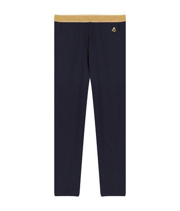 Pantalón de malla para niña azul Smoking