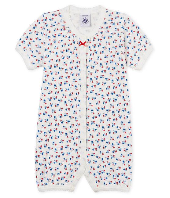 Mono corto de punto para bebé niña blanco Marshmallow / blanco Multico