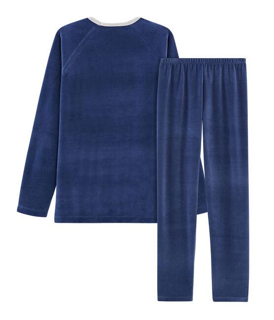Pijama de terciopelo para niño azul Medieval / azul Major