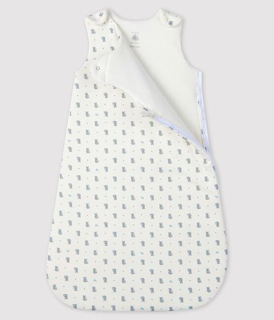 Saco de punto de tejido acanalado para bebé blanco Marshmallow / gris Gris