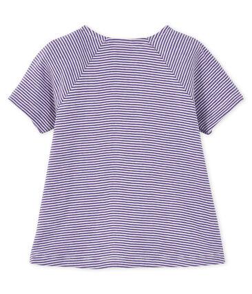 Camiseta de manga corta para bebé niña violeta Real / blanco Marshmallow