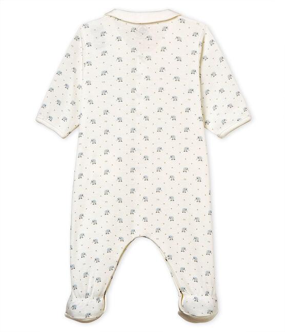 Pelele de punto 1x1 estampado para bebé niño blanco Marshmallow / blanco Multico