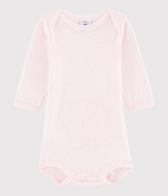 Bodi de manga larga de bebé niña rosa Vienne