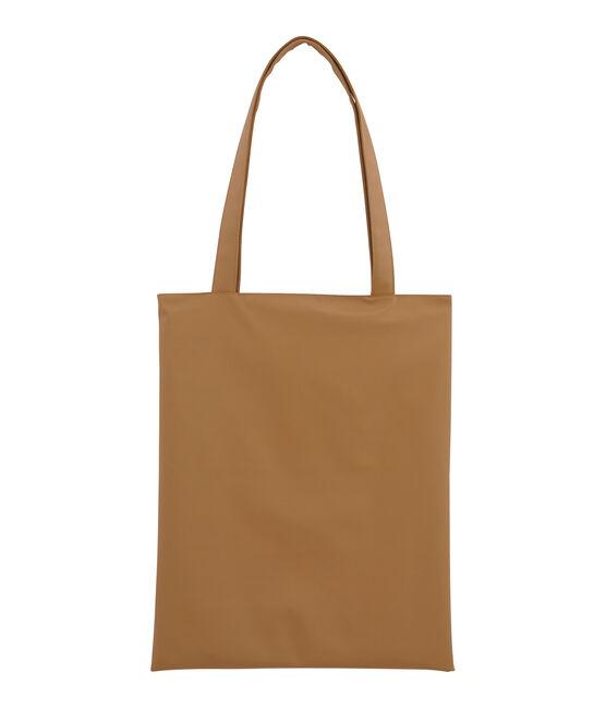 Bolsa shopping liso marrón Brindille