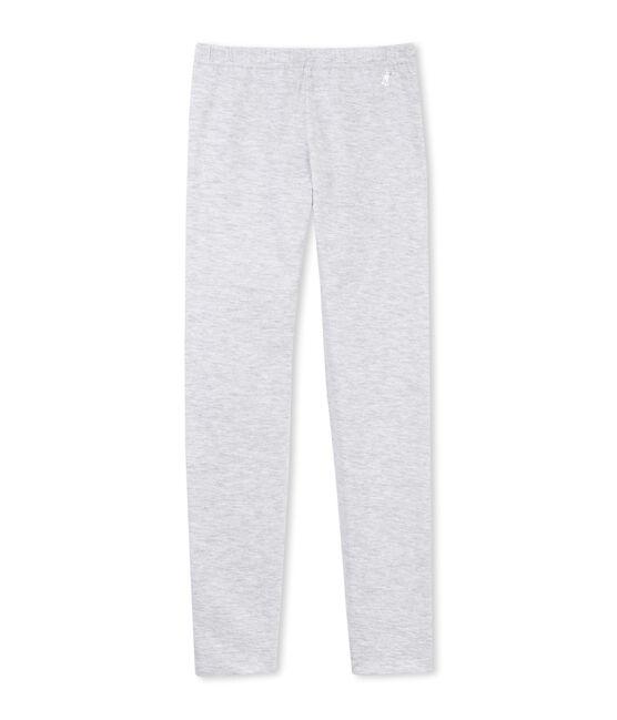 Legging de algodón stretch para niña gris Poussiere