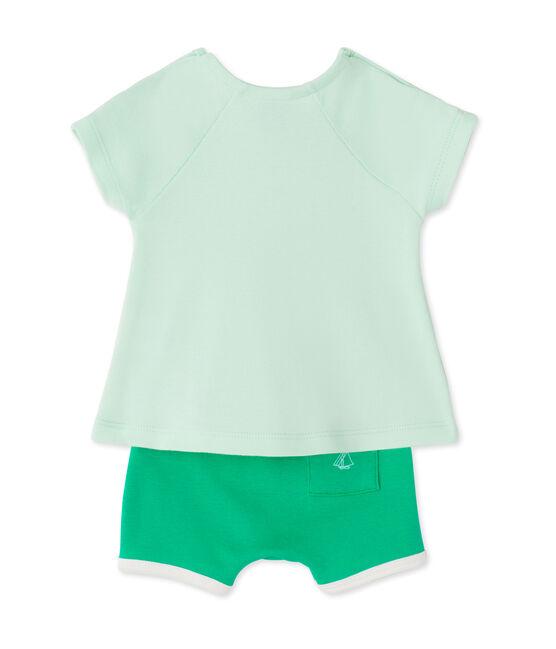 Conjunto de camiseta y short para bebé niña verde Amandelium / verde Flag