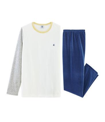 Pijama de terciopelo para niño azul Medieval / gris Poussiere