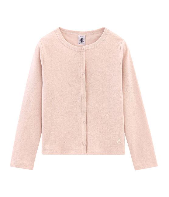 Cárdigan infantil para niña rosa Pearl / rosa Copper