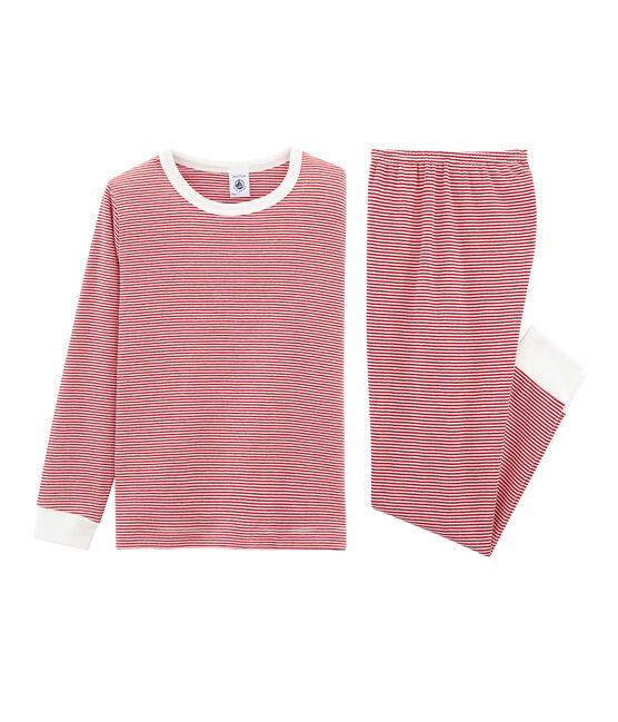 Pijama de punto para niño rojo Terkuit / blanco Marshmallow