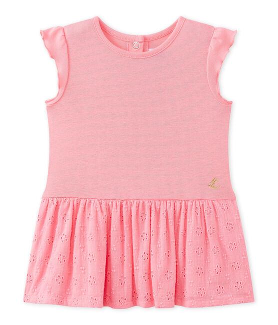 Vestido bebé niña con volantes rosa Petal