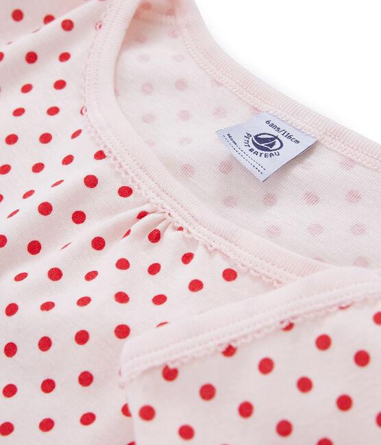 Camisón para niña de punto rosa Fleur / rosa Impatience