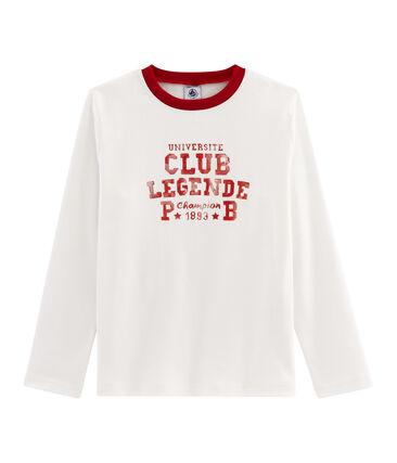 Camiseta de niño blanco Marshmallow