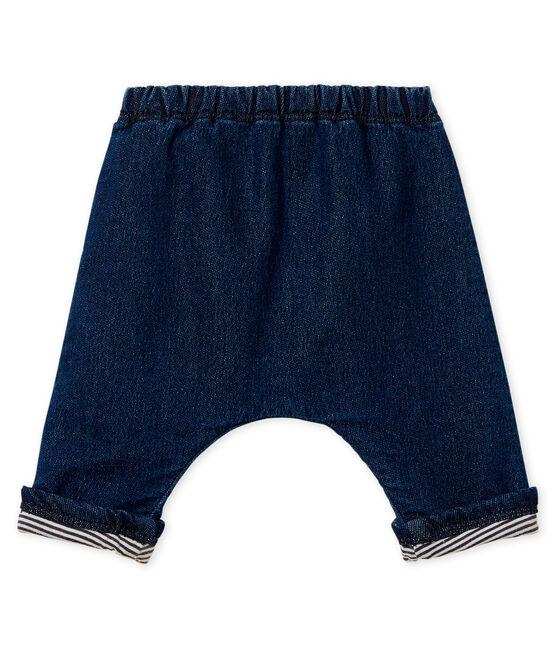 Pantalón forrado de tela efecto vaquero para bebé unisex azul Denim Bleu Fonce
