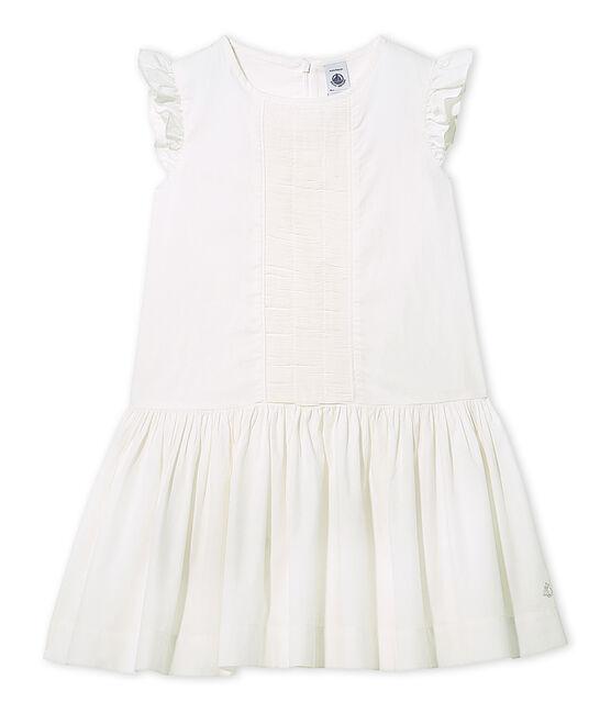 Robe de cérémonie fille blanco Lait