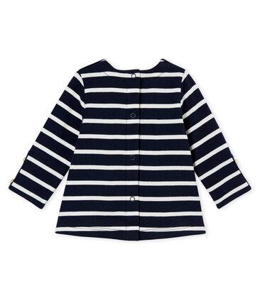 Blusa para bebé niña con rayas marineras