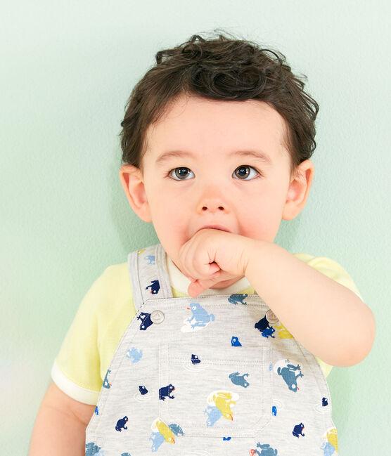 Peto estampado para bebé niño gris Beluga / blanco Multico