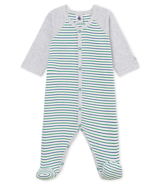 Pelele de punto para bebé niño blanco Marshmallow / blanco Multico
