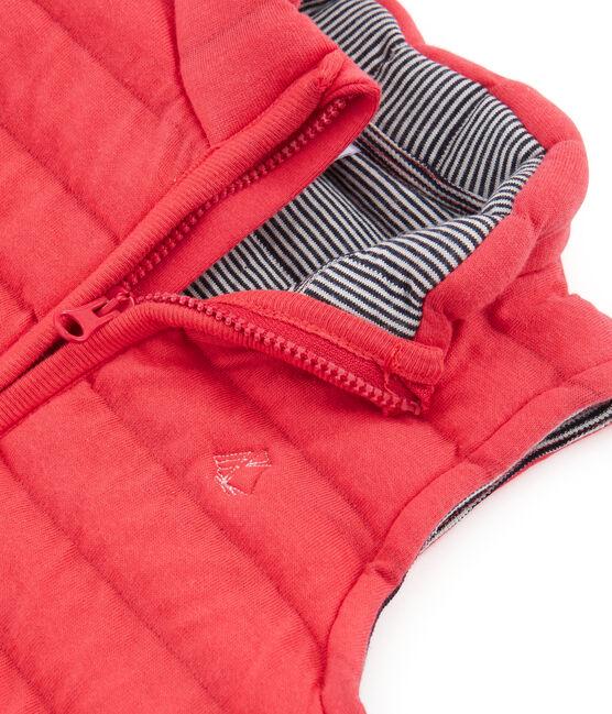 Chaleco de tela túbica acolchada para bebé unisex rojo Signal