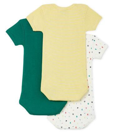 Tres bodis de manga corta para bebé niño