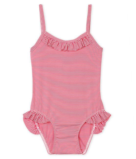 Traje de baño UPF 50+ para bebé niña rosa Geisha / blanco Marshmallow
