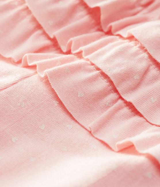 «Leggings» estampados para bebé niña rosa Minois / blanco Marshmallow