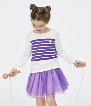 Falda de niña violeta Real
