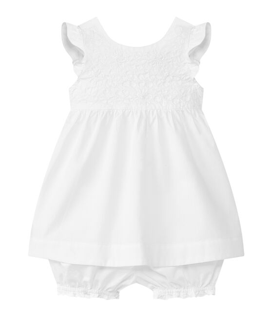 Conjunto 2 piezas bebé niña blanco Ecume