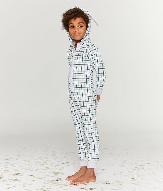Buzo largo para niño pequeño de punto blanco Marshmallow / blanco Multico