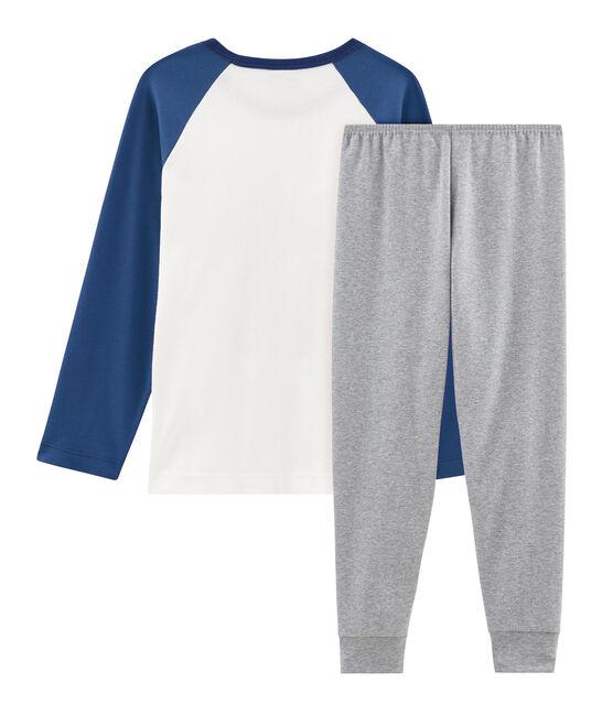 Pijama de punto para niño gris Subway / blanco Multico